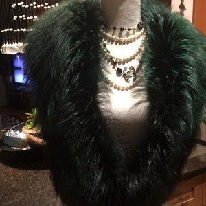 Gorgeous Green / Black Ombré Saga Fox 🦊 fur